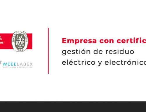 Empresa con certificado gestión de residuo eléctrico y electrónico