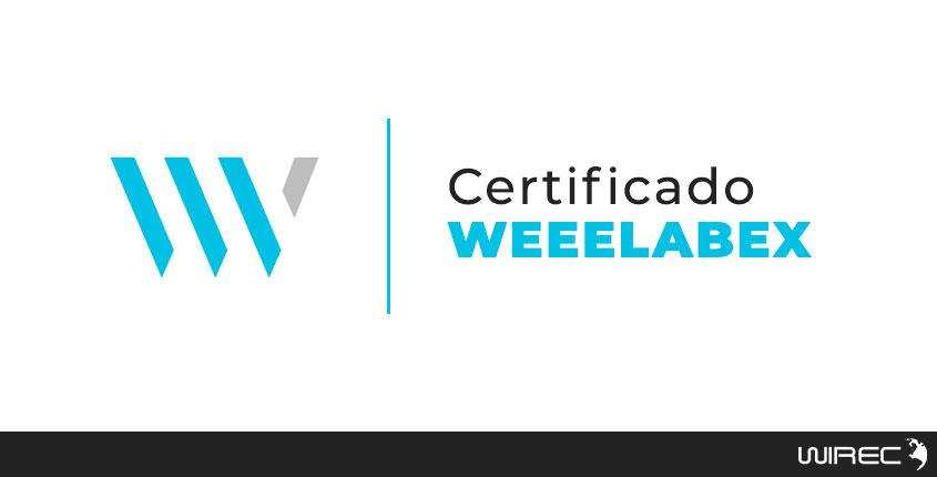 certificado weeelabex